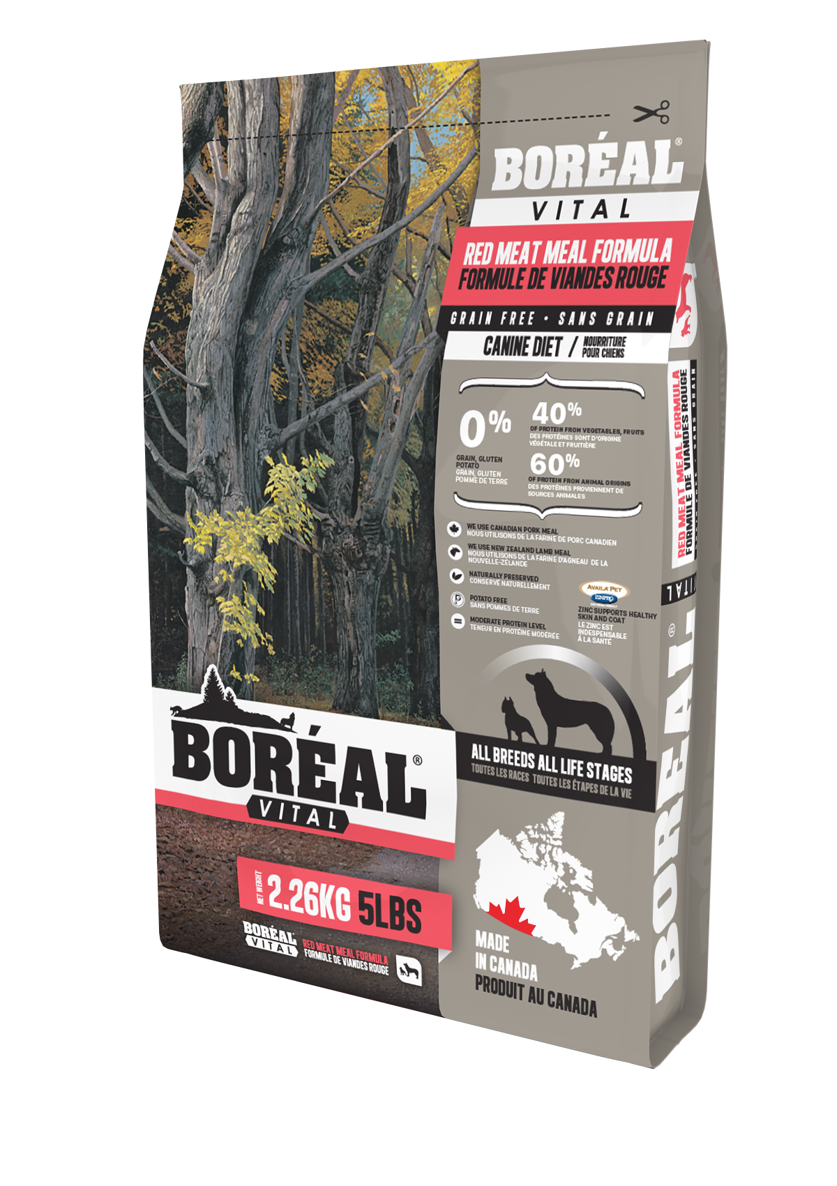Boreal Vital All Breed Red Meal - Grain Free Dry Dog Food 5 Pound Bag at NJPetSupply.com