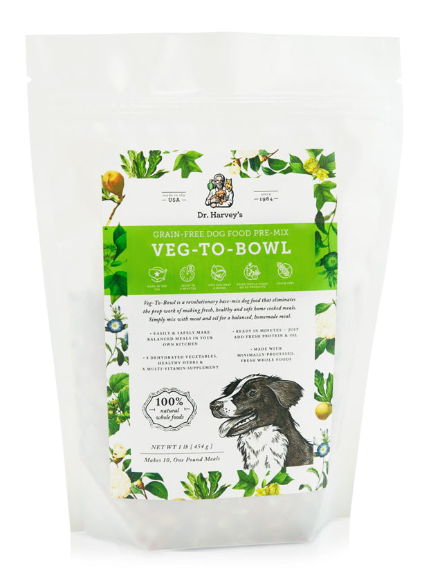 Dr. Harvey's Veg-To-Bowl, Grain-Free Dog Food Premix 1 Pound at NJPetSupply.com