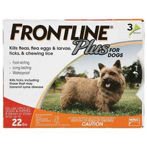 Frontline Dog Plus up to 22-lb, 3-month supply at NJPetSupply.com