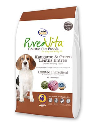 Nutrisource Pure Vita Kangaroo & Green Lentils Grain Free Entree Dry Dog Food at NJPetSupply.com