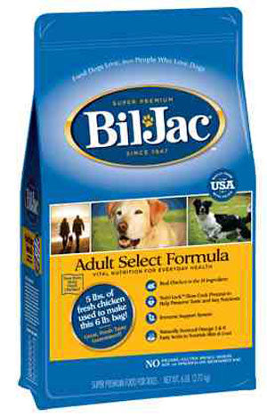 Bil Jac Select Adult Dry Dog Food 30 Pound Bag at NJPetSupply.com