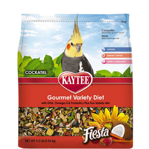 Kaytee Fiesta Max Cockatiel Pet Bird Food 2.5 Pound Bag at NJPetSupply.com