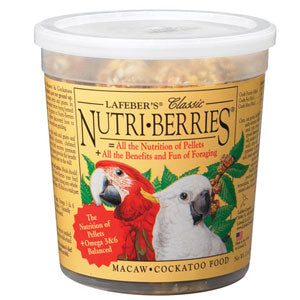 Lafeber's Nutri-Berries Macaw & Cockatoo Pet Bird Food 3 Pound Bag at NJPetSupply.com
