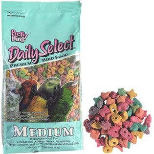 Pretty Bird Daily Select Medium Pet Bird Food, 20 Pound Bag at NJPetSupply.com