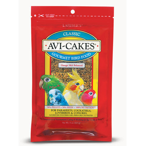 Lafeber Avi-Cakes for Cockatiels/Parakeets/Lovebirds/Conures
