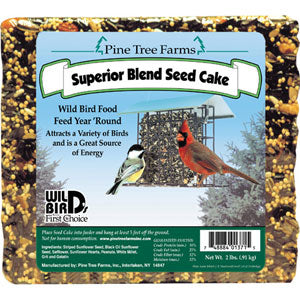 Pine Tree Farms Superior Blend Seed Cake for Wild Birds, 2 Pound at NJPetSupply.com