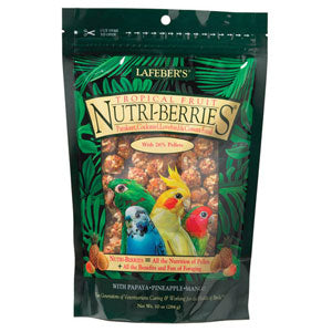 Lafeber's Gourmet Tropical Fruit NutriBerries for Pet Bird Cockatiels at NJPetSupply.com