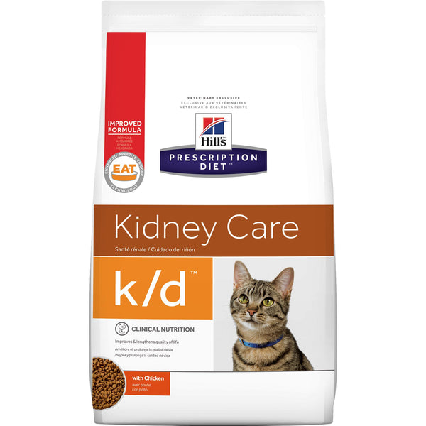 Hill's Prescription Diet k/d Feline Chicken 8696, 8.5 Pound Bag at NJPetSupply.com