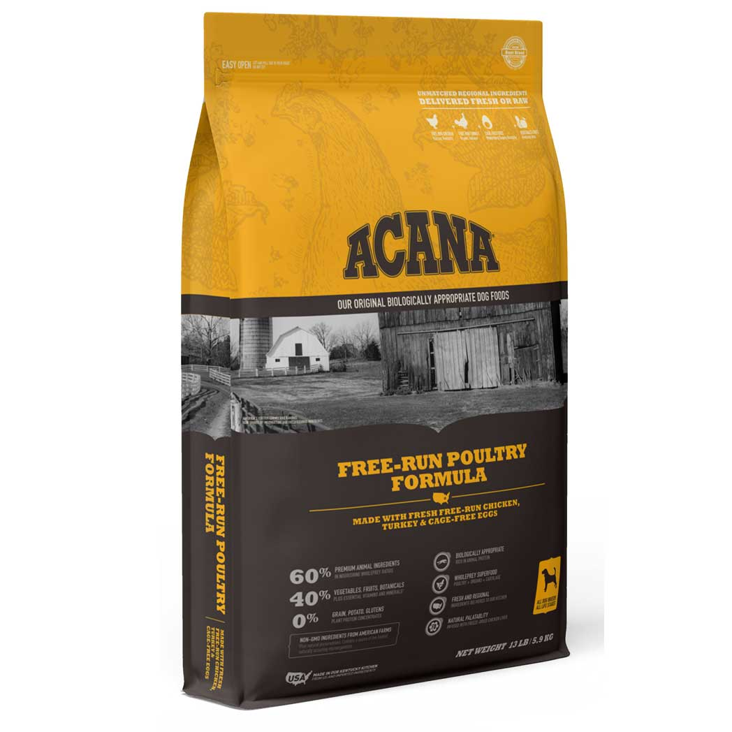 Acana Heritage Poultry Dry Dog Food, 4.5 Pound Bag at NJPetSupply.com