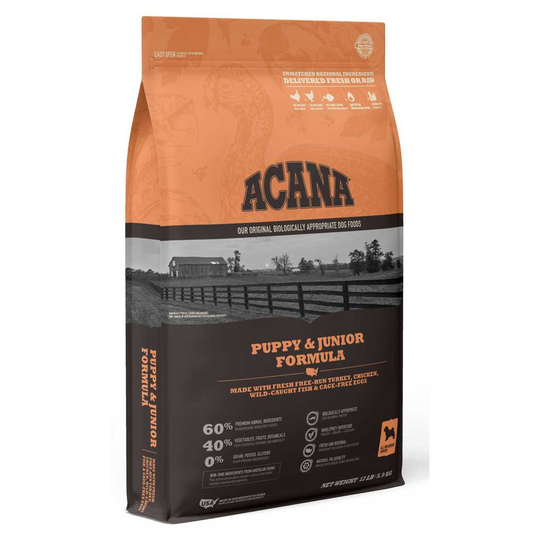 Acana Heritage Puppy & Jr Dry Dog Food, 4 Pound Bag at NJPetSupply.com