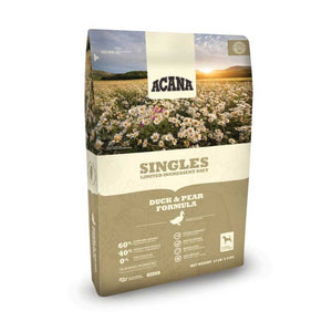 Acana Singles Duck and Pear Dry Dog Food, 4 Pound Bag at NJPetSupply.com