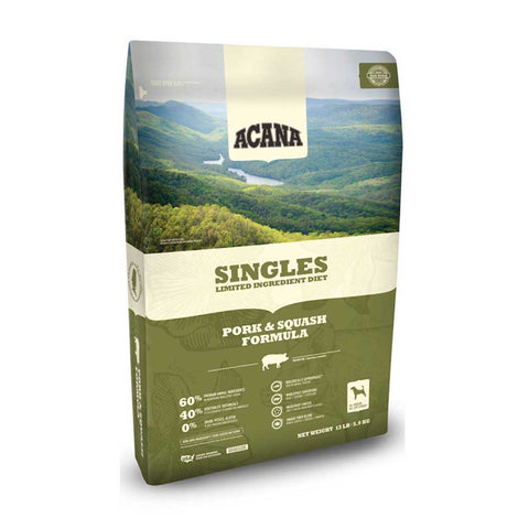 Acana Singles Pork and Squash Dry Dog Food, 4 Pound Bag at NJPetSupply.com