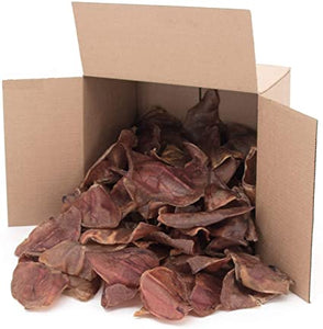 Natural Pig Ear Dog Chews, 50-count