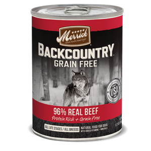 Merrick Backcountry - 96% Real Beef - Canned Wet Dog Food at NJPetSupply.com