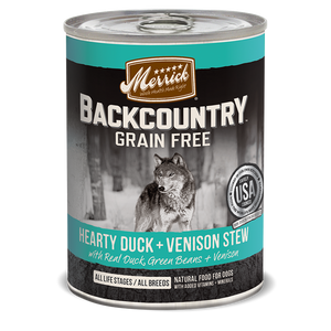 Merrick Backcountry - Hearty Duck and Venison Stew Canned Wet Dog Food at NJPetSupply.com