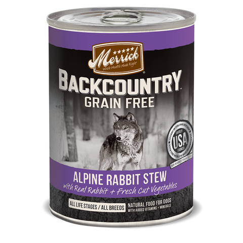 Merrick Backcountry - Alpine Rabbit Stew Canned Dog Food