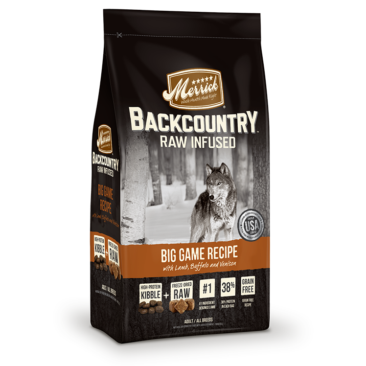 Merrick Backcountry - Raw Infused - Big Game Recipe Dry Dog Food at NJPetSupply.com