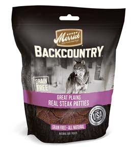 Merrick Backcountry Great Plains Real Steak Patties at NJPetSupply.com