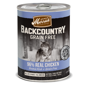 Merrick Backcountry - 96% Real Chicken - Canned Wet Dog Food at NJPetSupply.com