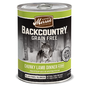 Merrick Backcountry Chunky Lamb Dinner in Gravy Adult Canned Wet Dog Food at NJPetSupply.com