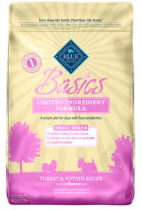 Blue Buffalo Blue Basics Small Breed Turkey and Potato Dry Dog Food, 4-lb at NJPetSupply.com