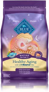 Blue Buffalo Healthy Aging Mature Cat Chicken & Brown Rice Dry Cat Food - NJ Pet Supply