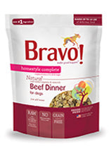 Bravo Homestyle Complete Beef Freeze Dried Dog Food, 6-lb at NJPetSupply.com