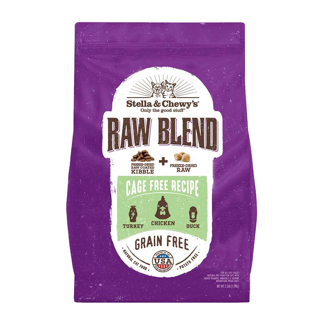 Stella & Chewy's Raw Blend Cage-Free Recipe Kibble for Cats