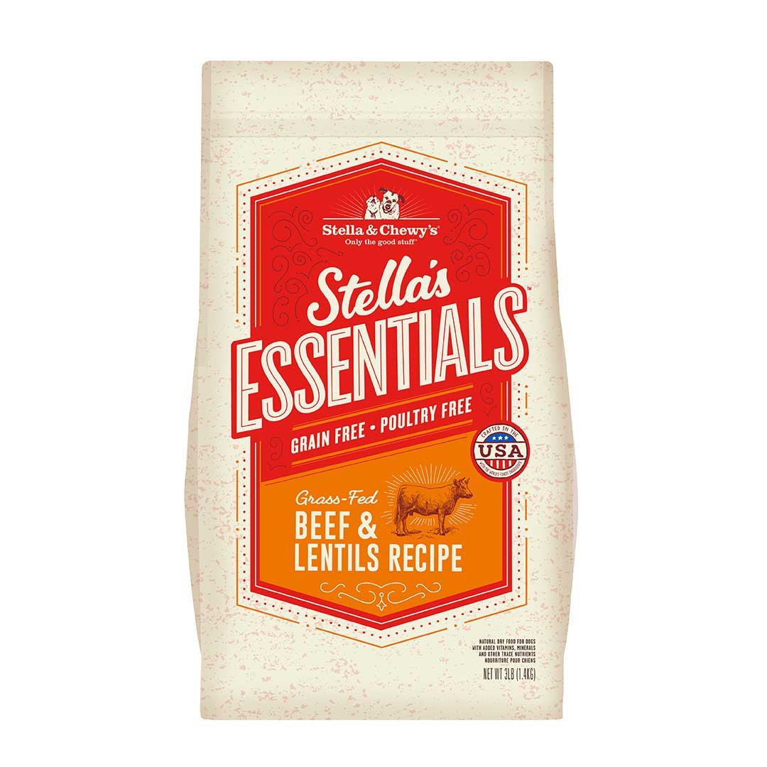 Stella & Chewy's Essentials Grain Free Beef & Lentils Dry Dog Kibble