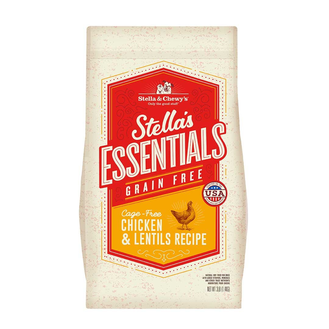 Stella & Chewy's Essentials Grain Free Chicken & Lentils Dry Dog Kibble