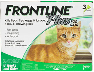 Frontline Plus for Cats, 3-month supply at NJPetSupply.com