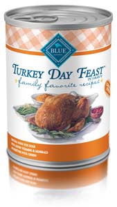 Blue Buffalo Family Favorite Recipe Turkey Day Feast Canned Dog Food - NJ Pet Supply