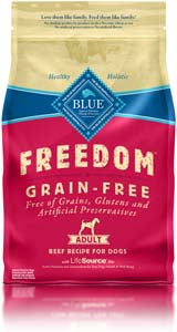 Blue Buffalo Freedom Grain-Free Beef Adult Dry Dog Food at NJPetSupply.com