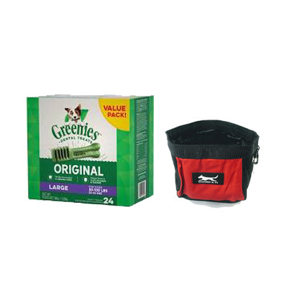 Greenies Dental Chews - Large 36oz 24 ct. with Free Travel Bowl at NJPetSupply.com