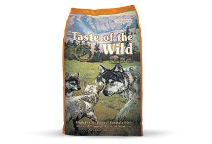 Taste of the Wild High Prairie Puppy Recipe with Roasted Bison and Roasted Venison Dry Dog Food