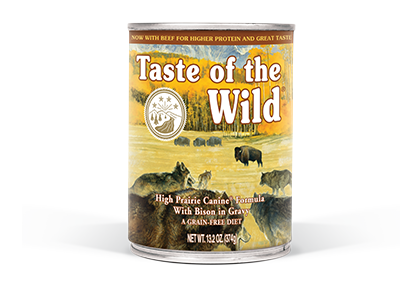Taste of the Wild High Prairie Formula with Bison in Gravy Wet Dog Food at NJPetSupply.com