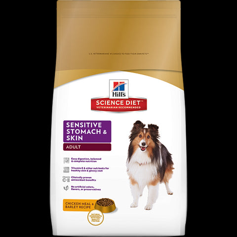 Science Diet Adult Sensitive Stomach Dry Dog Food at NJPetSupply.com