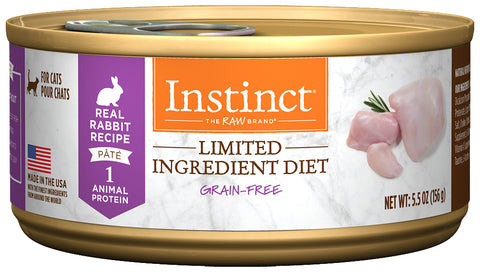 Nature's Variety Instinct Limited Ingredient Diet Real Rabbit Recipe Canned Cat Food
