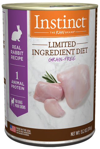 Nature's Variety Instinct Limited Ingredient Diet Real Rabbit Recipe Canned Dog Food