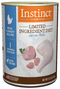 Nature's Variety Instinct Limited Ingredient Diet Real Turkey Recipe Canned Dog Food