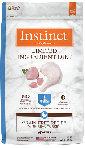 Nature's Variety Instinct Limited Ingredient Diet Grain-Free Recipe with Real Turkey Dry Dog Food