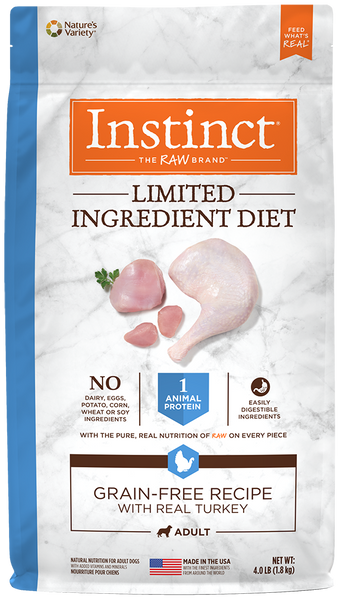 Nature's Variety Instinct Limited Ingredient Diet Grain-Free Recipe with Real Turkey Dry Dog Food 22-lb at NJPetSupply.com