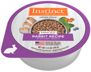 Nature's Variety Instinct Minced Rabbit Recipe Wet Cat Food at NJPetSupply.com