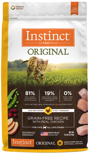 Nature's Variety Instinct Original Grain-Free Recipe with Real Chicken Dry Cat Food at NJPetSupply.com
