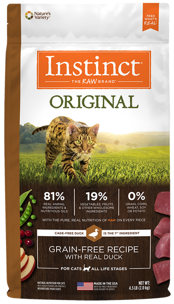 Nature's Variety Instinct Original Grain-Free Recipe with Real Duck Dry Cat Food at NJPetSupply.com