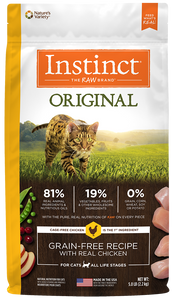 Nature's Variety Instinct Original Grain-Free Recipe with Real Chicken Dry Cat Food 5-lb at NJPetSupply.com