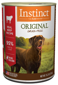Nature's Variety Instinct Original Real Beef Recipe Canned Wet Dog Food 5.5-oz can at NJPetSupply.com