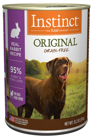 Nature's Variety Instinct Original Real Rabbit Recipe Canned Dog Food