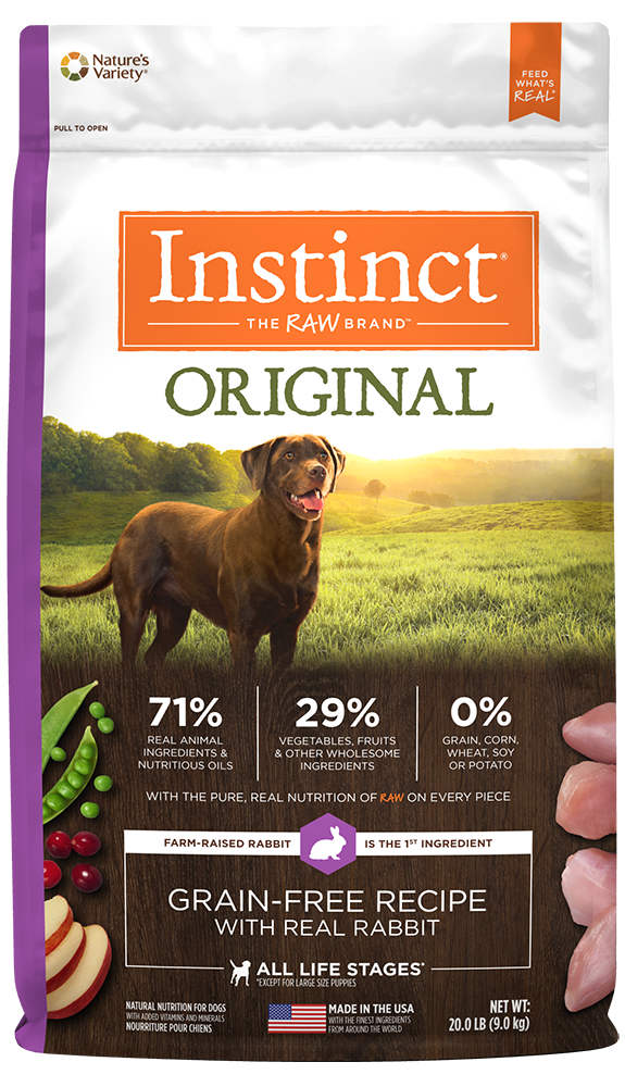 Nature's Variety Instinct Original Grain-Free Recipe with Real Rabbit Dry Dog Food 20-lb at NJPetSupply.com