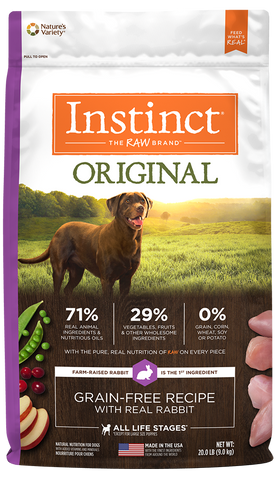 Nature's Variety Instinct Original Grain-Free Recipe with Real Rabbit Dry Dog Food